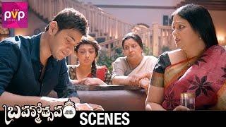 Jayasudha Consoles Mahesh Babu | Brahmotsavam Movie Scenes | Samantha | Kajal Aggarwal | Pranitha