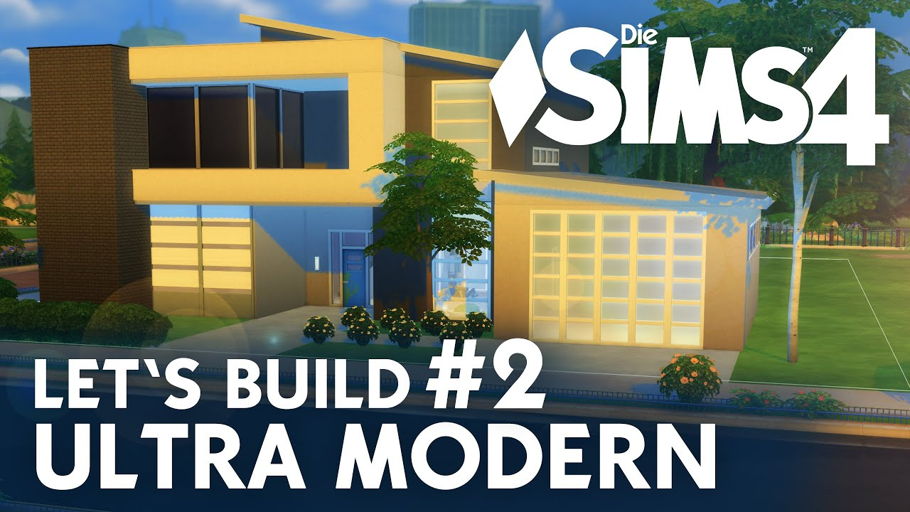 die sims 4 let's build ultra modern #2 | garage & wellness - youtube - Sims 3 Wohnzimmer Modern