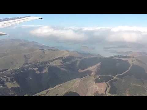 Final Ever Flight of 737-300 Air New Zealand Scenic Flight around Christchurch