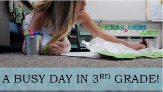 A Day in the Life of a 3rd Grade Teacher - MATH, WRITER'S WORKSHOP, AND MORE! Video