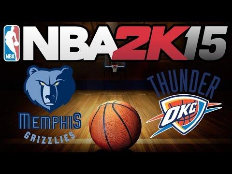 Memphis Grizzlies vs Oklahoma City Thunder | 2015.04.04 | NBA 2K15 Gameplay