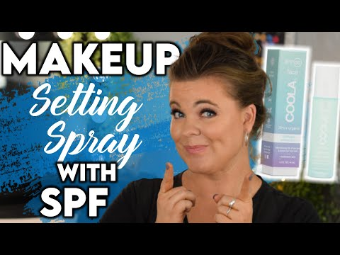 Download Coola Makeup Setting Spray SPF 30   Wear Test and Review