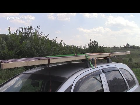 Как привезти профлист на  легковом автомобиле, стяжки для крепления груза.
