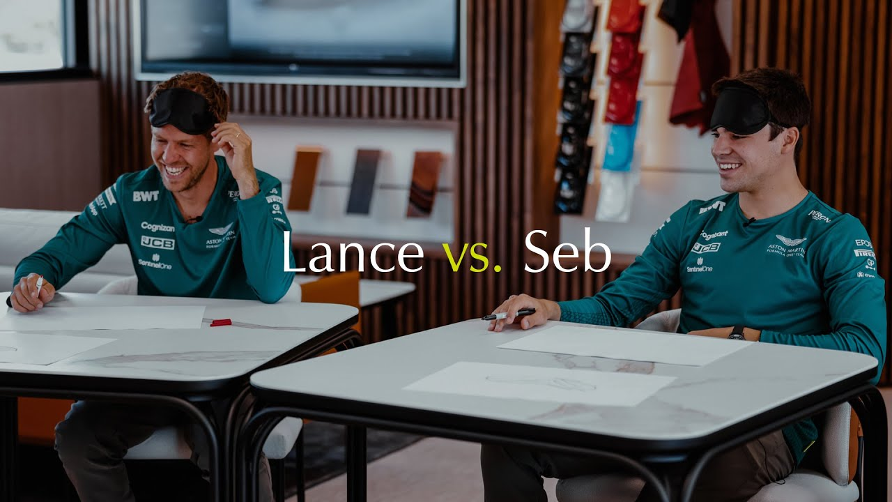 Lance vs. Seb | Blindfold Drawing Challenge