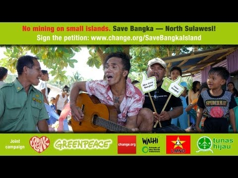 Message from Kaka Slank: Stop mining on small islands. Save Bangka - North Sulawesi!