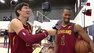 Cavs' Cedi Osman grabs mic and gives reporting a try at Media Day