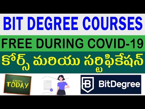Free Courses During Lockdown With Certificate 2020 | Bitdegree Free Courses | Telugu Job Portal