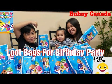 DIY Baby Shark Loot Bags For Birthday Party | Buhay Canada