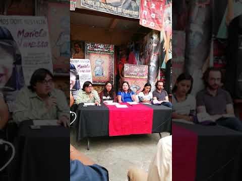 Conferencia de prensa sobre caso Mariela Vanessa Díaz Valverde