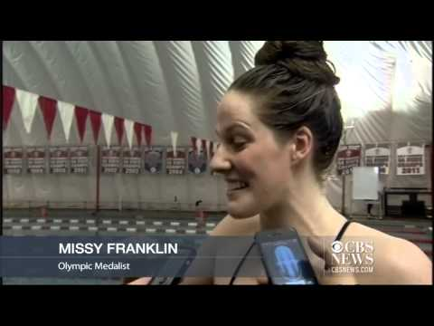Olympian Missy Franklin swims in high school meet