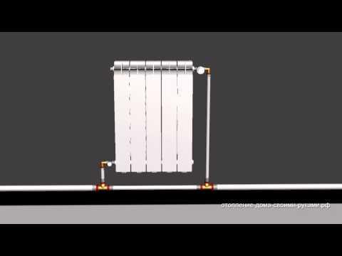 видео: 3d Схема однотрубной системы отопления из металлопластика