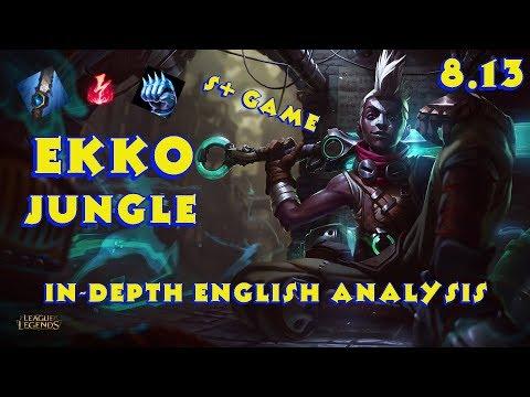 AP Bruiser Ekko Jungle Patch 8.13 - In-Depth English Analysis - Full Game Commentary