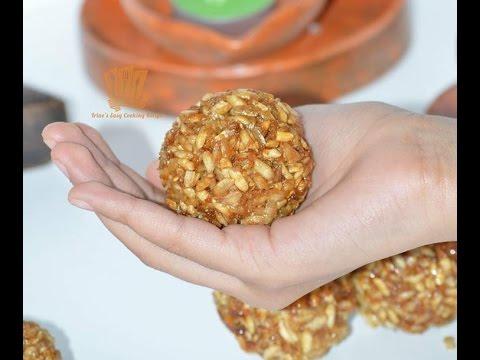 চিড়া নারকেলের মোয়া রেসিপি ।। How To Make Flattened Rice Sweet Balls