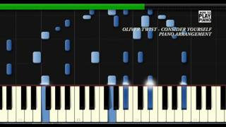 OLIVER TWIST - CONSIDER YOURSELF - SYNTHESIA (PIANO COVER)