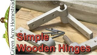 How to Make Some Simple Wooden Hinges, DIY