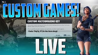 🔴 Custom Games NAE Duos! // !code !customrules // Fortnite Battle Royale