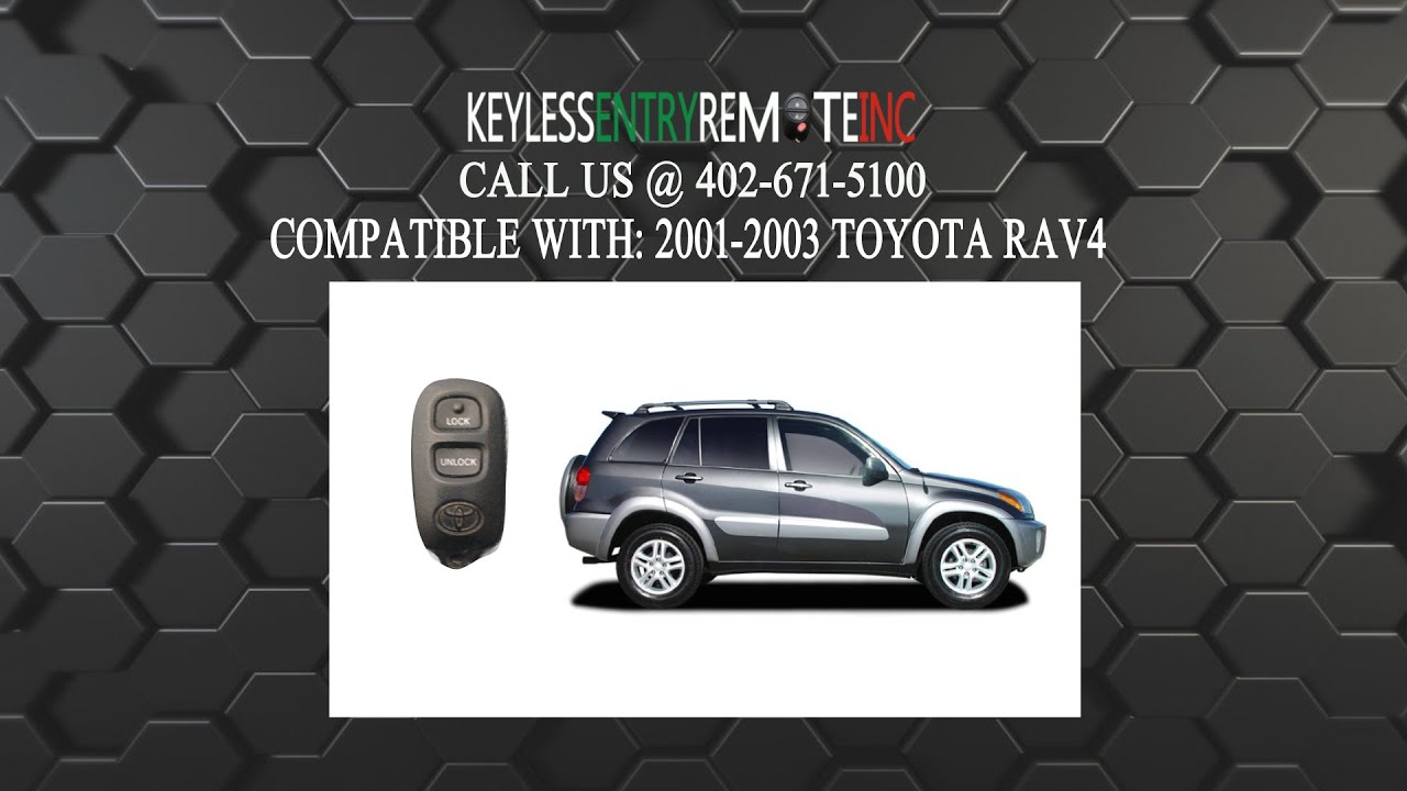 How To Replace Toyota Rav4 Key Fob Battery 2001 2002 2003