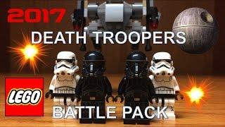 LEGO Star Wars 2017 Imperial DEATH TROOPER Battle Pack Set Review 75165