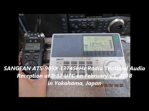 SANGEAN ATS-909X 13745kHz Radio Thailand Audio