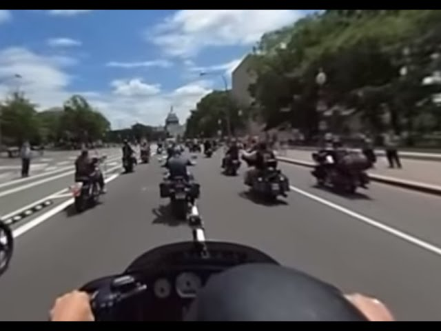 Memorial Day: Rolling Thunder motorcycle rally in 360