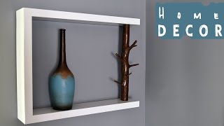 DIY Decor Shelf - With Tree Branch
