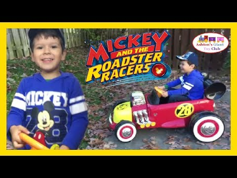 HUFFY MICKEY ROADSTER RACER 6V RIDEON! NEW!!  UNBOXING KIDSIZE DISNEY MICKEY & THE ROADSTER RACER