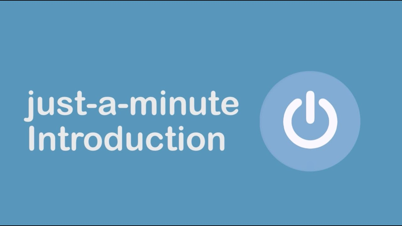 Just A Minute Guided Meditations Introduction Youtube