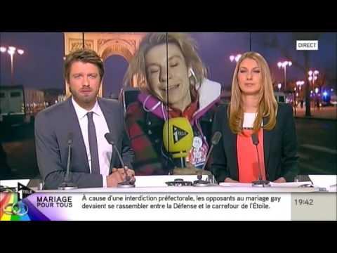 Frigide Barjot s'emporte face à la partialité des journalistes d'I-TELE (24/03/13)