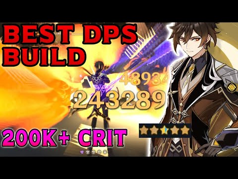 ZHONGLI IS BROKEN! Best ZhongLi (钟离 ) Build & DPS Showcase - Genshin Impact
