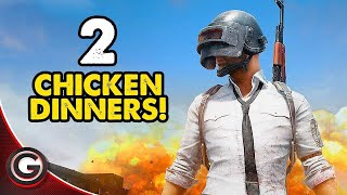 PUBG Best 2 TWO Epic Chicken Dinners 🔴 PUGB Player Unknown Battlegrounds MINI-14 Gameplay thumbnail