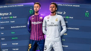 neymar do bara vs neymar do real madrid fifa 19 experimento