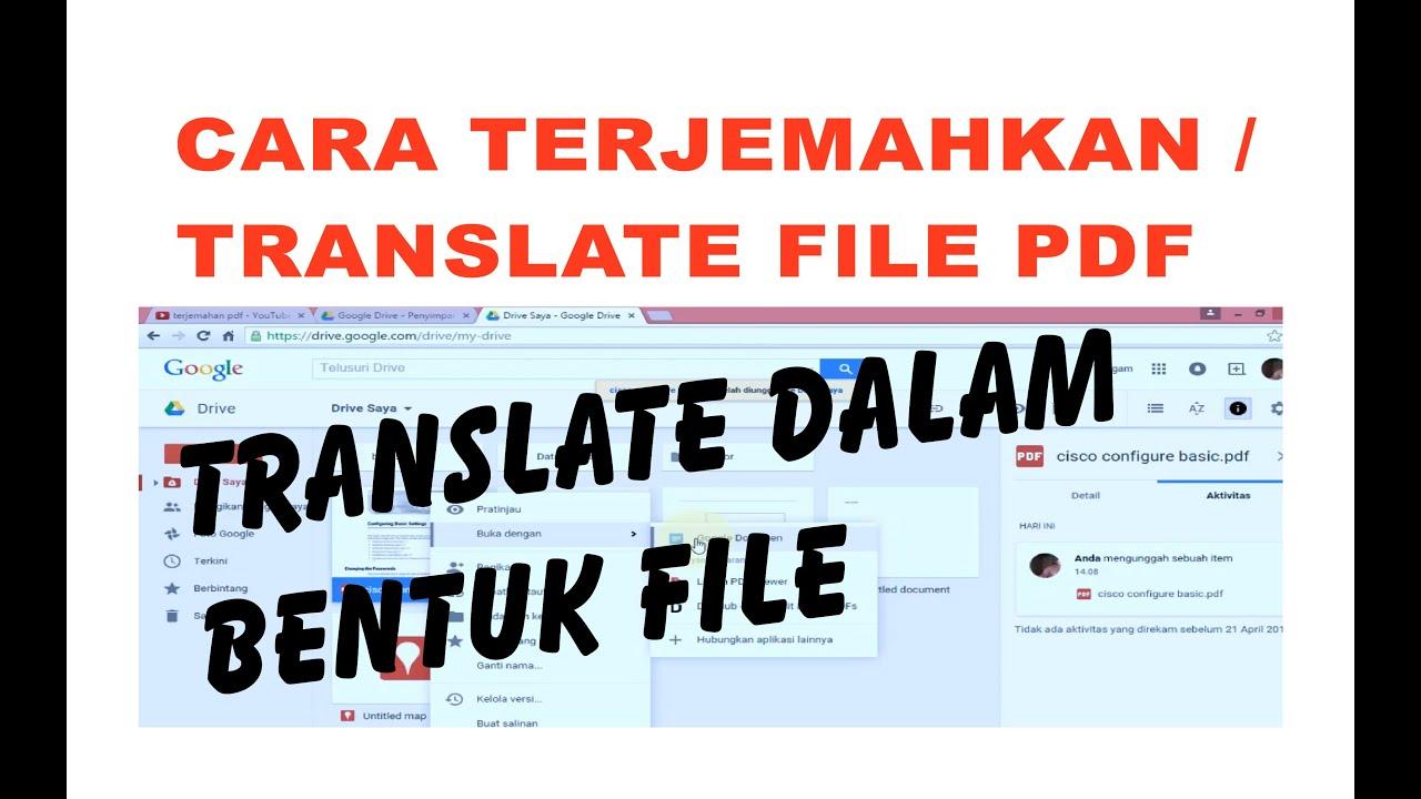 google translate inggris indonesia pdf