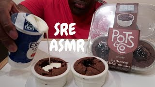 ASMR *NO TALKING EATING SOUNDS* Chocolate Fudge Cake and Double Cream