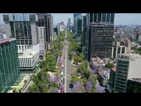 Flight over Mexico City's Paseo de la Reforma with DJI Mavic Pro Drone
