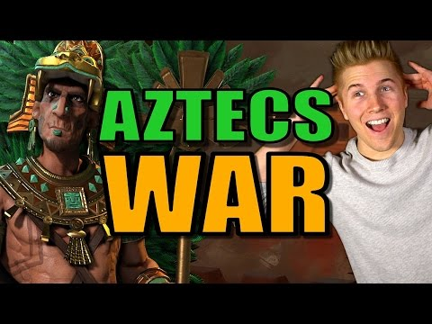 NORWAY INVASION!! | Civilization 6: Aztec Gameplay [Civ 6 Let's Play Strategy] - Part 6