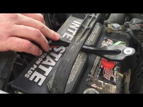 HOW TO REMOVE CAR BATTERY CORROSION AND CHANGE BATTERY HOLD DOWN