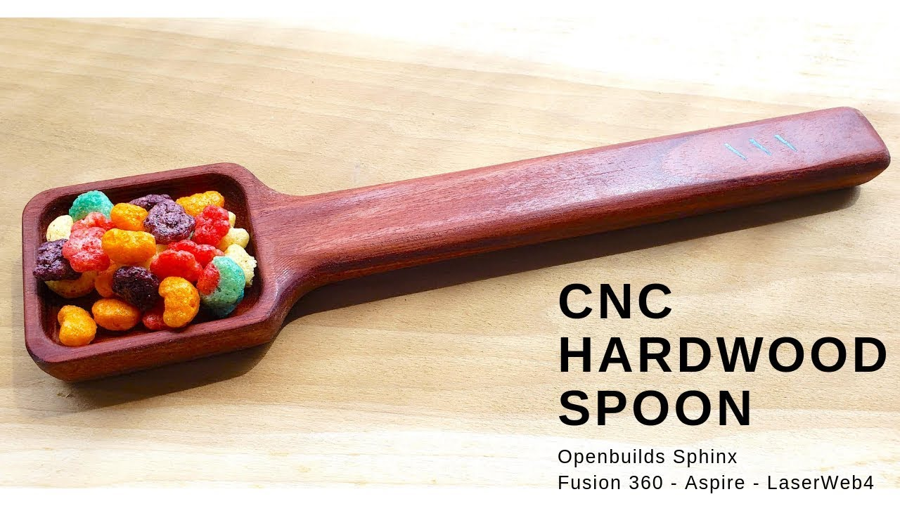 CNC Hardwood Spoon - 3D Milling double side | One piece
