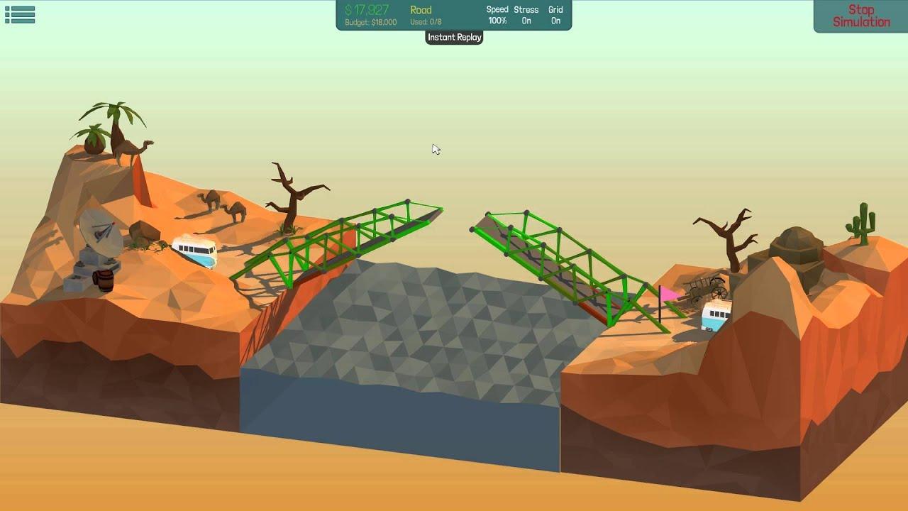poly bridge solution 16m double drawbridge 2 9 youtube. Black Bedroom Furniture Sets. Home Design Ideas