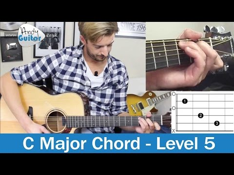 C Chord made EASY! How to play Guitar Chords (Level 5 01) Easy Beginner Tutorial