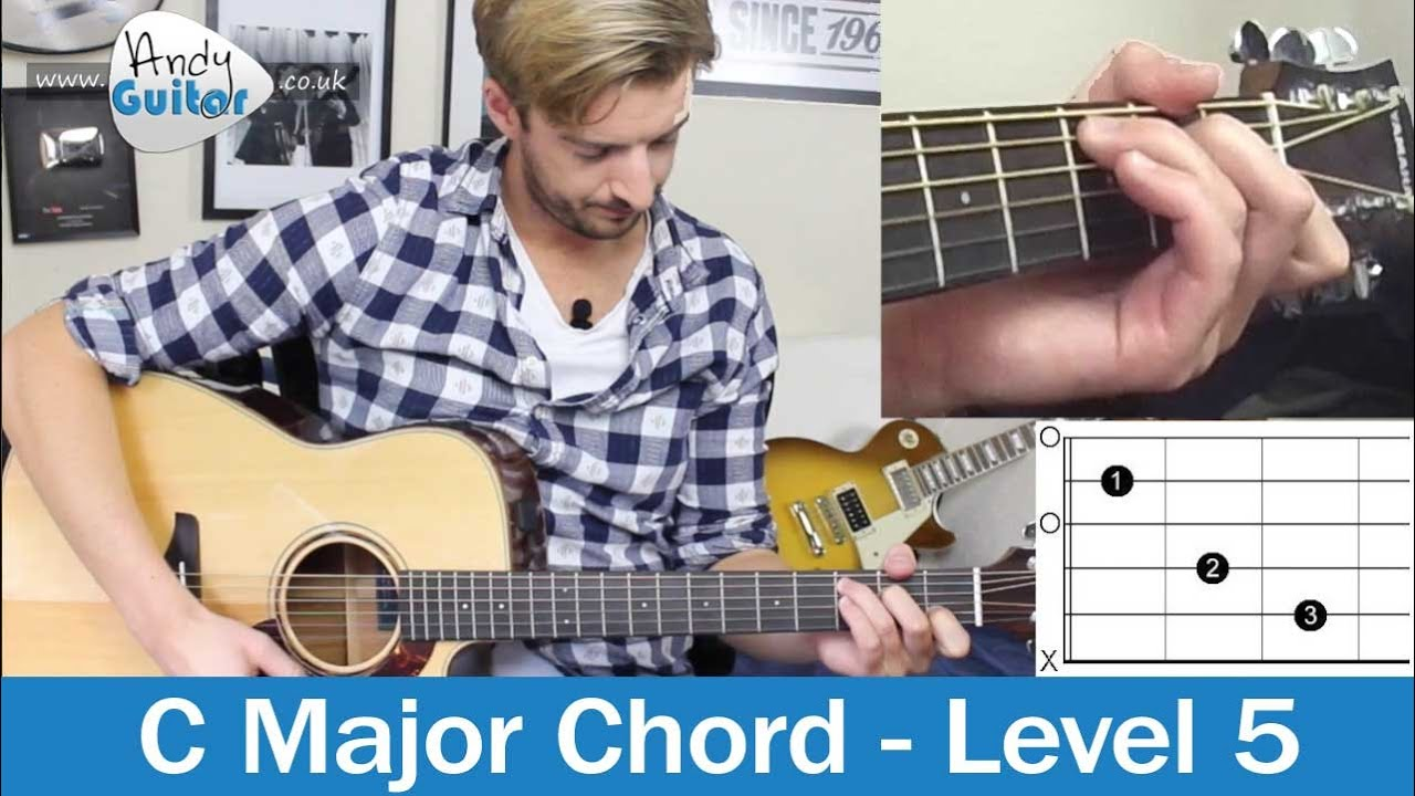C Chord made EASY! How to play Guitar Chords (Level 5 01 ...