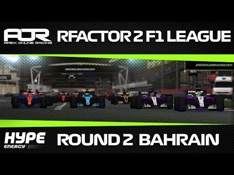 rFactor 2 - AOR Hype Energy Formula 1 2018 - Season 1 - Round 2 - Bahrain