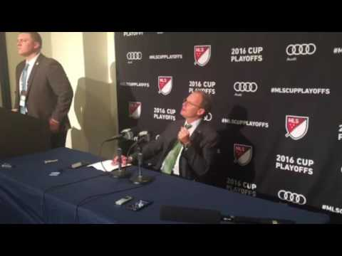 Brian Schmetzer post game after Sounders playoff win
