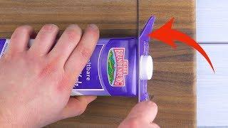 Schneide die Milchpackung SO auf und dein Gegenüber kriegt Herzchen in den Augen!