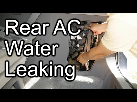 How to fix Toyota Sienna Water Leak Rear AC Cargo Area