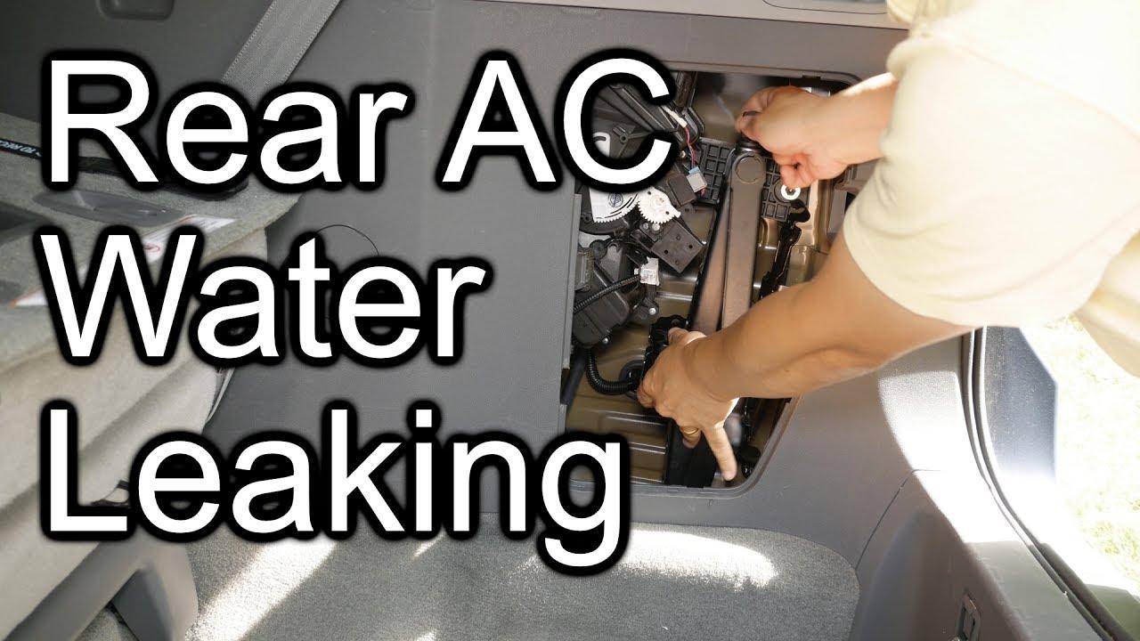 How To Fix Toyota Sienna Water Leak Rear Ac Cargo Area