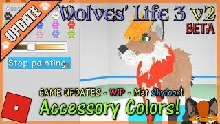 Roblox - Wolves' Life 3 v2 BETA - ACCESSORY COLORS & Met Shyfoox! #20 - HD