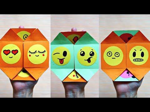 Emoji never ending card | DIY paper magic card - Face changer | Emoji crafts