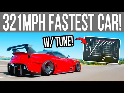 Forza Horizon 4 321 Mph Fastest Car With Tune Youtube