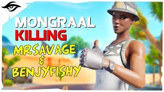 Mongraal owning new teammates ft MrSavage & Benjyfishy // Secret Mongraal | Fortnite