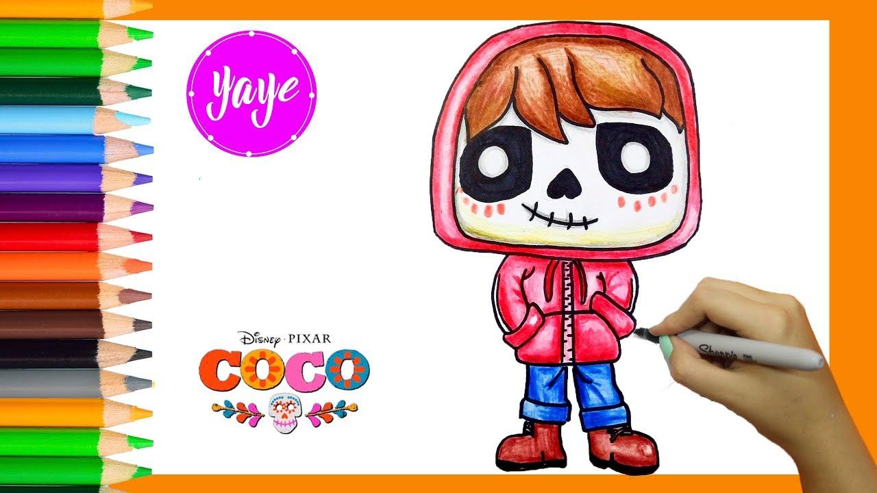 Miguel Coco Para Colorear: Cómo Dibujar Y Colorear A Miguel Funko Pop-Coco Disney